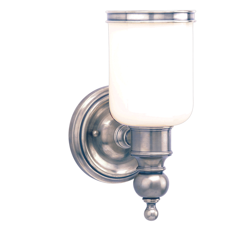 6301-AN_Hudson Valley Chatham Single Light Bath Sconce in an Antique Nickel Finish