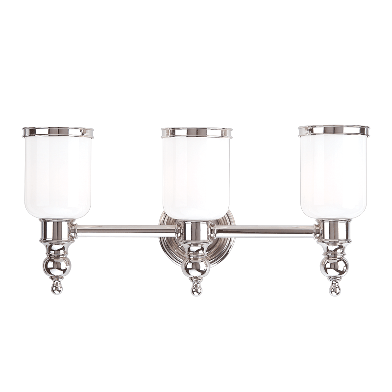 6303-PN_Hudson Valley Chatham 3-Light Bath Sconce in a Polished Nickel Finish