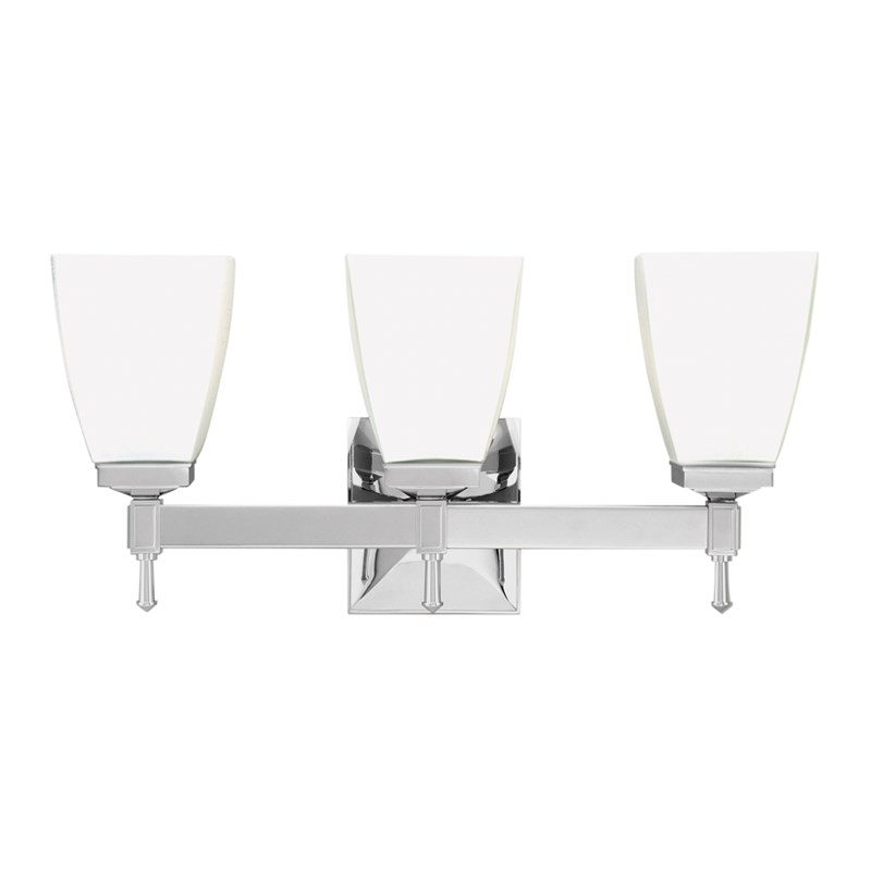 653-PC_Hudson Valley Kent 3-Light Bath Sconce in a Polished Chrome Finish