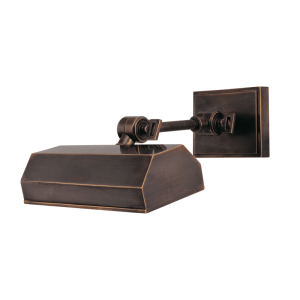 """7008DB Hudson Valley Woodbury 8"""" Picture Light in a Distressed Bronze Finish"""