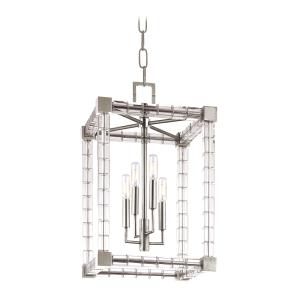7113-PN_Hudson Valley Alpine 4-Light Crystal Lantern in a Polished Nickel Finish