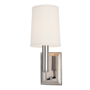 811-PN_Hudson Valley Clinton Single Light Wall Sconce in a Polished Nickel Finish