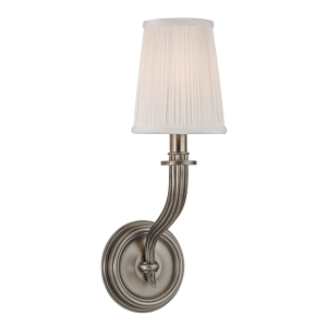 8111-AN_Hudson Valley Danbury Single Light Wall Sconce in an Antique Nickel Finish