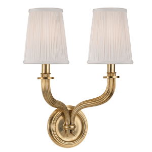 8112-AGB_Hudson Valley Danbury 2-Light Wall Sconce in an Aged Brass Finish