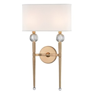 8422-AGB_Hudson Valley Rockland 2-Light Wall Sconce in an Aged Brass Finish