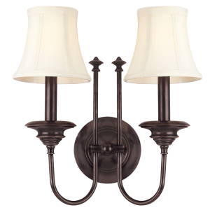 8712-OB_Hudson Valley Yorktown 2-Light Wall Sconce in an Old Bronze Finish