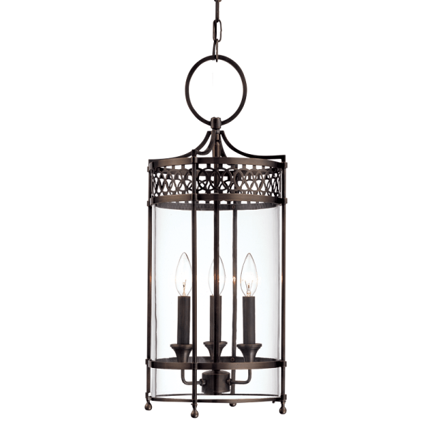 8993-DB_Hudson Valley 3-Light Pendant in a Distressed Bronze Finish