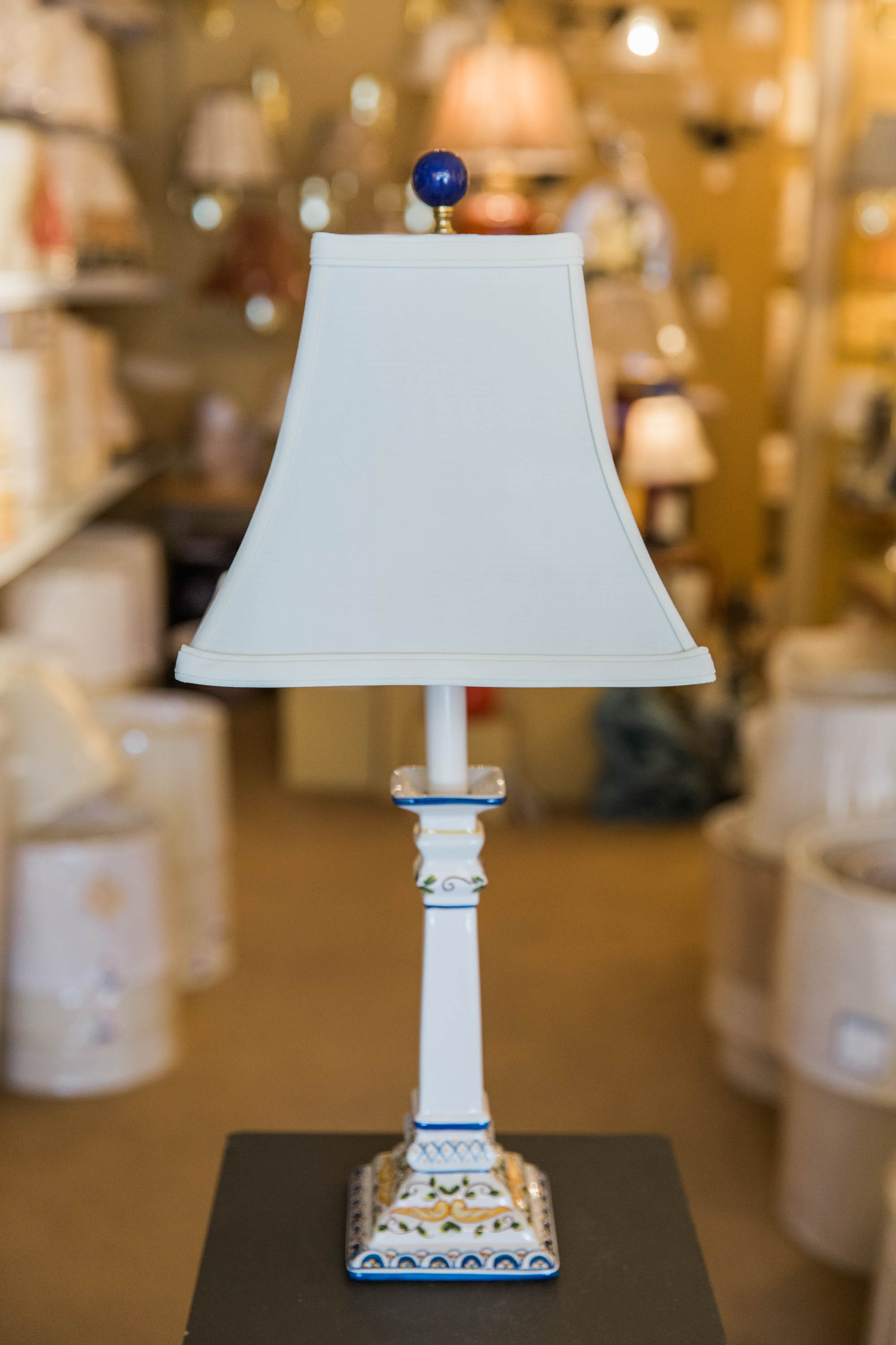 New at Our Shop: Hand-Painted Portuguese Pottery Lamps