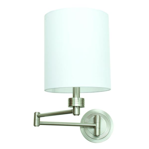 WS775-SN_House of Troy Single Light Wall Swing Arm Lamp in a Satin Nickel Finish