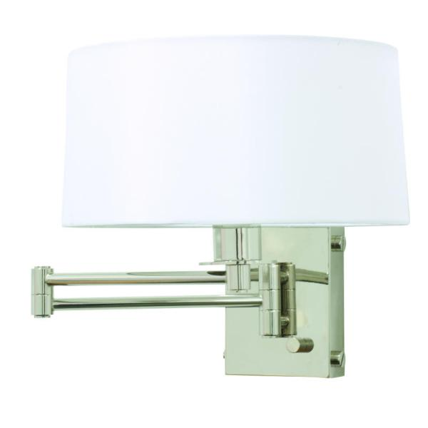 WS776-PN_House of Troy Decorative Single Light Wall Swing Arm Lamp in a Polished Nickel Finish