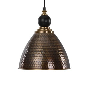 22052_Uttermost Adastra Single Light Pendant in a Hammered Antique Brass Finish