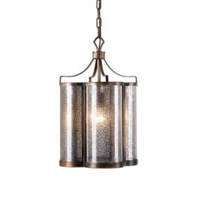 22061_Uttermost Croydon Single Light Pendant in Oil Rubbed Bronze with Mercury Glass