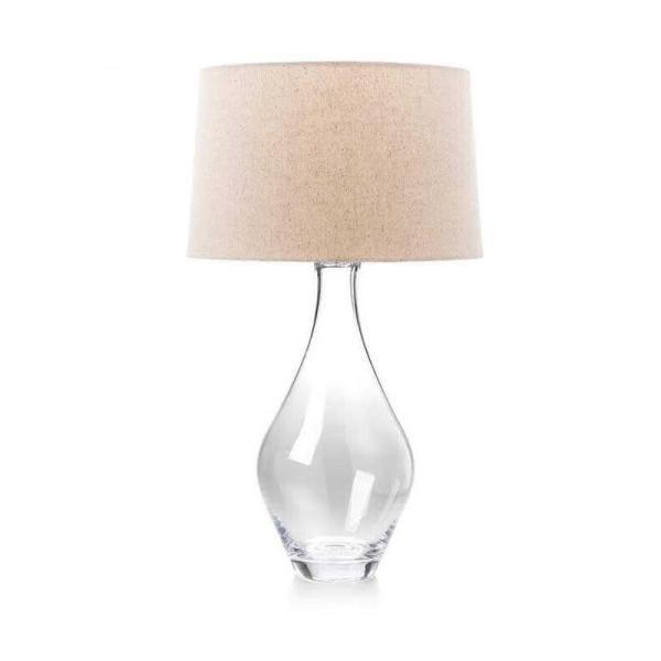 5341-Simon Pearce Warren Blown Glass Table Lamp - Large