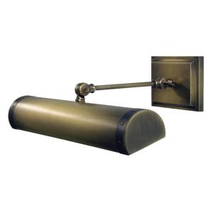 """dst30-snblk_House of Troy 30"""" Direct Wire Steamer Picture Light in a Satin Nickel Finish with Black Accents"""