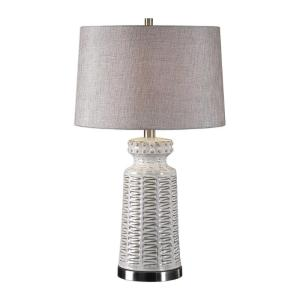 27535-1_Uttermost Kansa Distressed White Ceramic Table Lamp_
