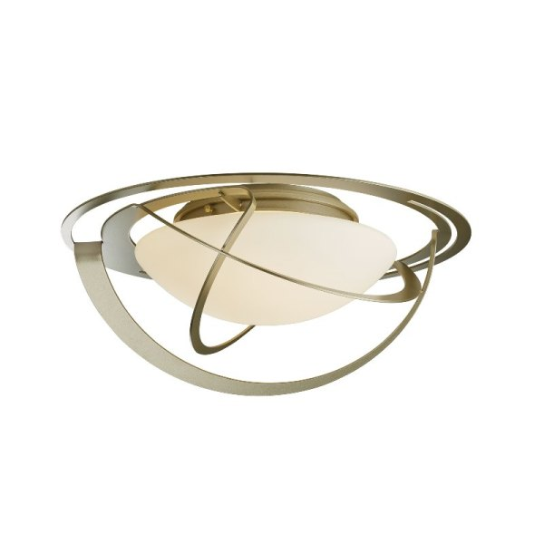 126720-84-G98_1 Hubbardton Forge Equinox Flush-Mount Ceiling Fixture with Opal Glass