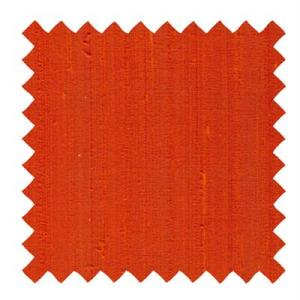 L517 - Dupioni Silk Fabric in Orange