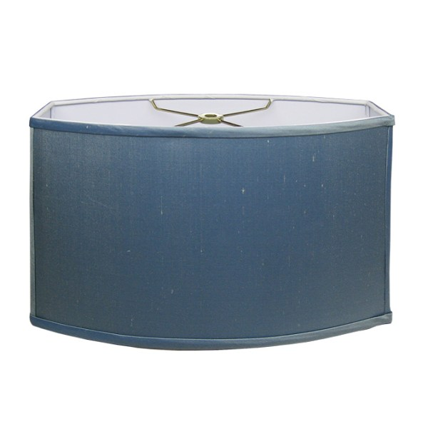 Cornerstone Rectangle Hardback Lampshade in Steel Blue Linen