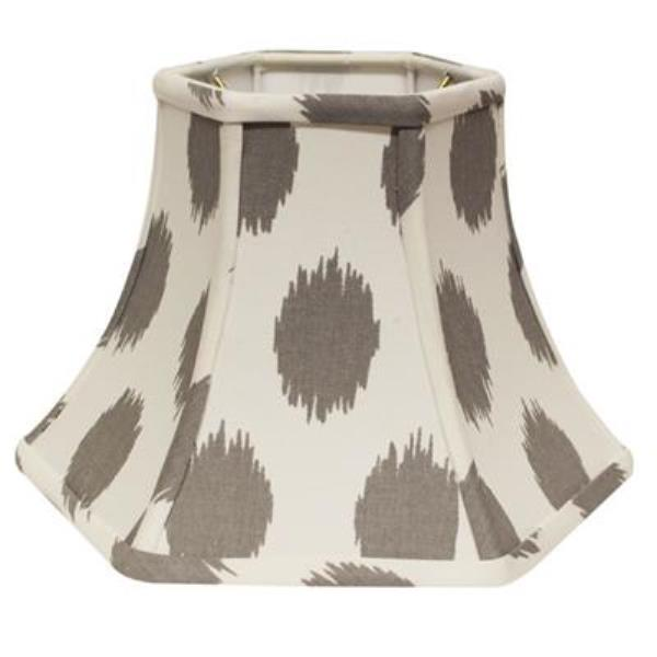 Hexagonal Bell Hardback Lampshade in 967-Gray