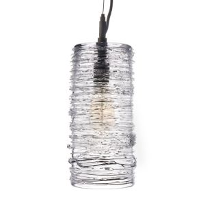 3147 Simon Pearce Echo Lake Blown Glass Pendant
