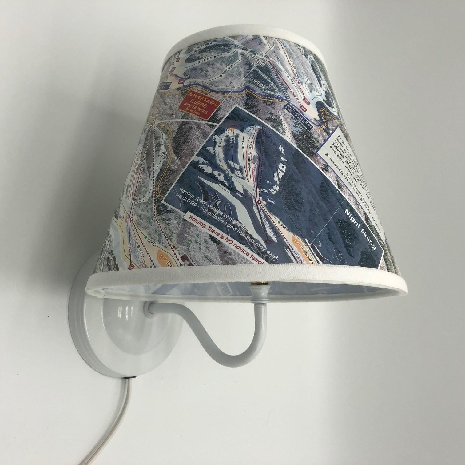 Pinup Lamp with Ski Lampshade