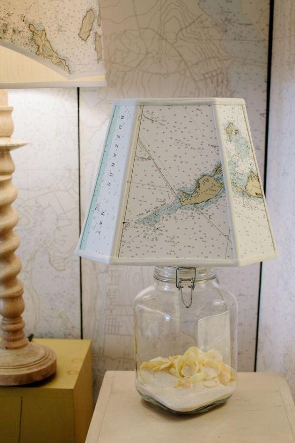Collectible Medium w/ Cut Corner Nautical Shade