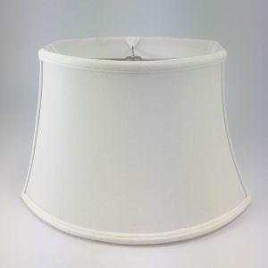 Chipped Oval Silk Bell Lampshades