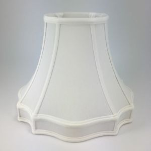 Fancy Outscallop Oval Silk Bell Lampshades with a Gallery