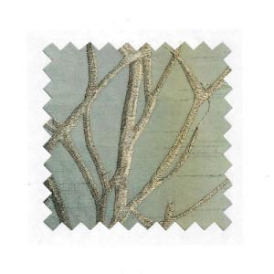 Teal Embroidered Silk Tree Branch