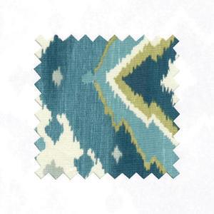 Blue Ikat Linen