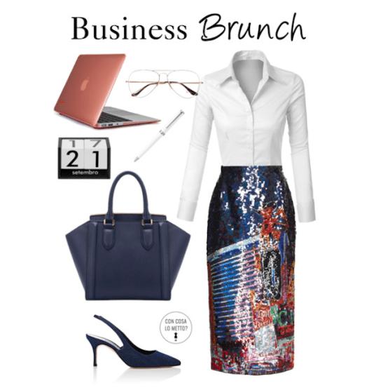 Cosa indossare ad un brunch di lavoro: la pencil skirt
