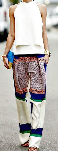 Cosa indossare ad un party in giardino - pantaloni