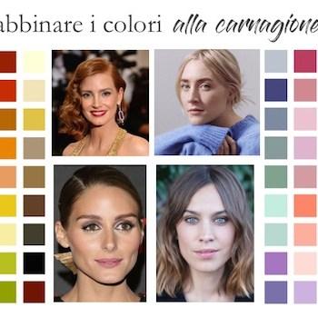 Come abbinare i colori in base alla carnagione: miniguida facile