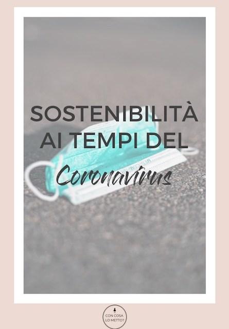 Sostenibilità ai tempi del coronavirus
