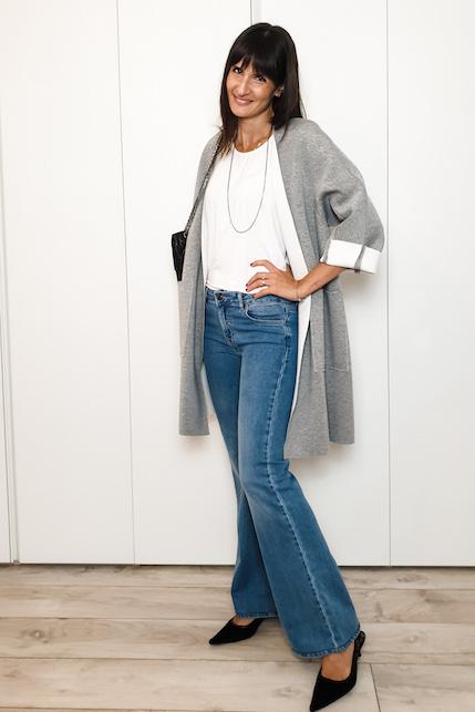 Come abbinare i jeans a zampa: idee di look autunnali