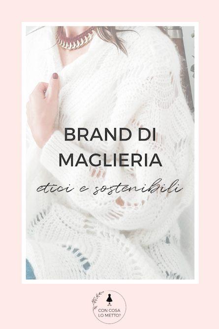 Brand di maglieria etica e sostenibile