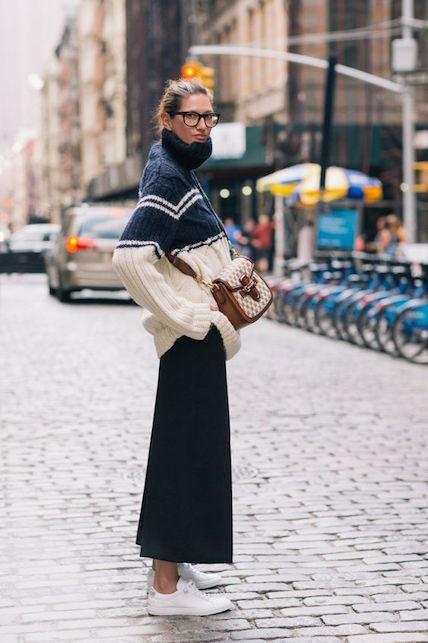 Come indossare i pantaloni cropped in inverno