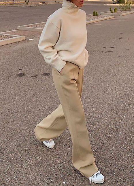 Come abbinare i pantaloni beige in primavera