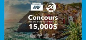 Gagner un voyage en Italie, Caraïbes ou New York grâce à Peinture MF (Valeur de 15000$)