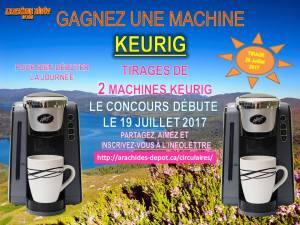 À gagner : TIRAGE DE 2 MACHINES KEURIG