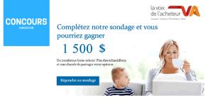 Concours gagner 1500 $ ce mois-ci offert par LA VOIX DE L'ACHETEUR