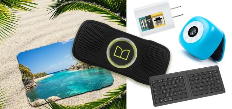 Gagnez un haut-parleur Bluetooth, un clavier sans fil, une caméra à selfie et un routeur portatif pour le voyage!