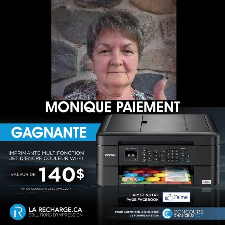 Félicitation à Mme Monique Paiement