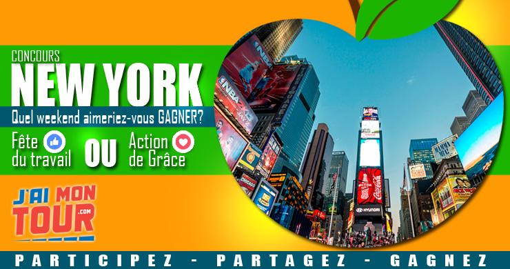 À GAGNER : un weekend à New York! Grace à J'ai mon tour