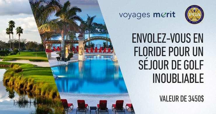 Concours - Gagner un voyage en Floride avec la personne de votre choix.