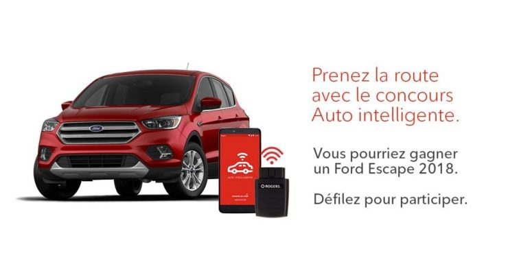Concours - Gagner un Ford Escape 2018 ou un des dix appareils Auto intelligente!