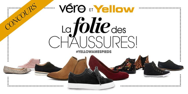 Concours - Gagner 1 000 $ DE CHAUSSURES YELLOW