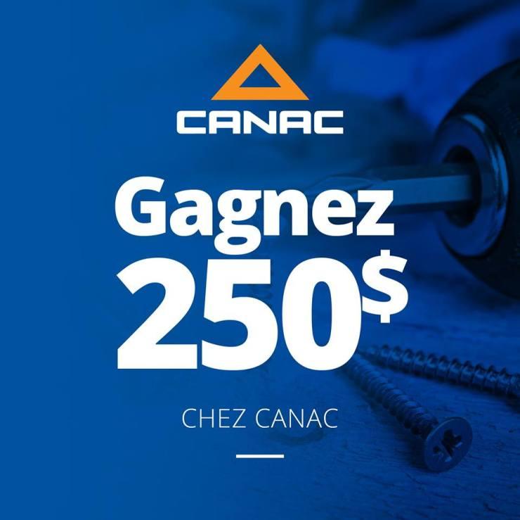 Concours Gagner une carte-cadeau de 250$ chez Canac