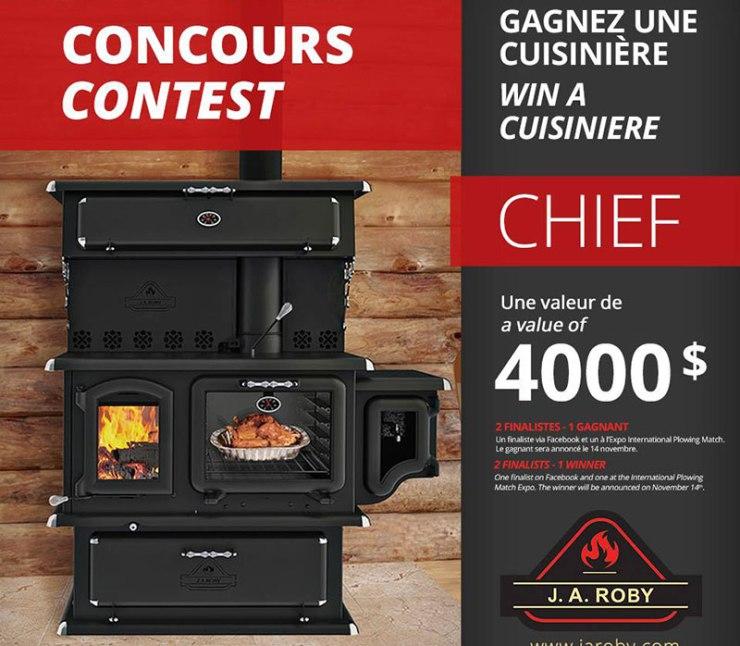 Concours - Gagner une cuisinière de marque J.A. ROBY d'une valeur de $4000