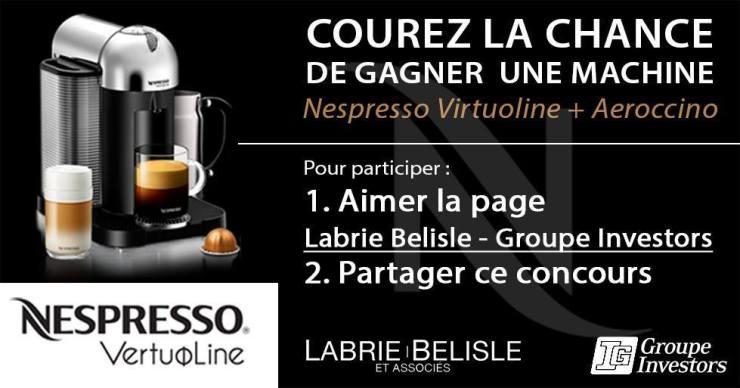 Concours   GAGNER une machine Nespresso Virtuoline + Aeroccino